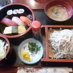 写楽寿司 - 料理写真:'19/10/26 手打そばセット(税込900円)