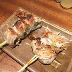 118346329 - 小ネギ肉巻き200円、納豆肉巻き250円