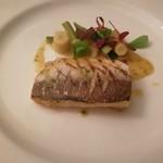 レストラン シャンボール - 本日の魚(カマス)のグリエ アニスと酢橘風味の白ワインソース