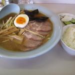 ラーメンショップ - ネギチャーシュー麺+半ライス