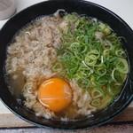 118372323 - 肉うどん 430円 + 生玉子 50円