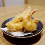 肉と魚 あおき - 天ぷら [ビジネスランチセット]