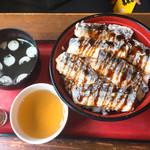 オロチョンラーメン - サンマの竜田揚げ丼