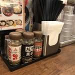 三田製麺所 - 卓上