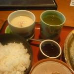 11840521 - ご飯、茶碗蒸し、お茶