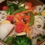 11840746 - ●●茶美豚と季節野菜のせいろ蒸●●