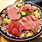 118400594 - 米沢牛シャトーブリアン&厚切りタン&三角バラ&マルシン&松茸