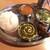 アシヤナ - パンジャビランチ(1,080円)(豚ロースとほうれん草のカレー&チキンと玉ねぎのカレー)ライスバージョン