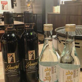 赤ワイン日本酒ボトルプレゼント