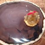 118415875 - 車海老の下のからすみ煎餅。組み合わせの妙。