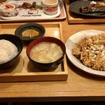 五穀 - 料理写真:揚げ鶏の香味ダレ