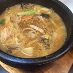 蓬溪閣 - 春雨麻辣烫です 辛さを控えめにしてもらったのでとても食べやすかった コクのあるスープです