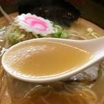 すっぽん道楽 - スッポンラーメンのスープ
