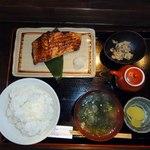 竃 - キングサーモンの味噌づけ焼
