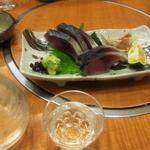 すし寛 - きずし & 冷酒(紀州 車坂 純米)
