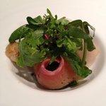 ラ カーブ ド ナガフサ - ホタテとサーモンの前菜