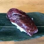Okame - あご肉(「鮪希少部位3貫セット」800円)