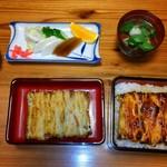 山尾 - 料理写真:鰻重、松、合盛り