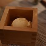 日本酒バル 蔵のや - バニラアイス