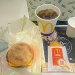 マクドナルド - ソーセージマフィンセット(アイスコーヒー)