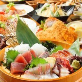 こだわりの和食付コース料理は飲み放題付き3500円~!
