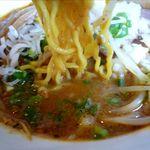 麺や 高野 - カリー味噌ラーメンの麺