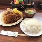 白馬 - とんかつ+ライス+味噌汁