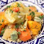 ◆Main Dishゴロゴロ野菜のクスクスたっぷりのお野菜と一緒に