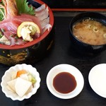 まるわ食堂 - 海鮮まるわ丼 1500円