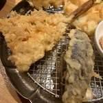 天ぷらめし 金子屋 - はたはた、茄子など