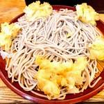歌舞伎そば - もりかき揚げそば 普通でも割合量はあります。