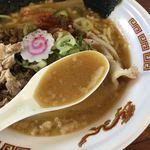 らあめん寸八 - トロリと豚骨味噌スープ(大つけ麵博 美味しいラーメン集まりすぎ祭)