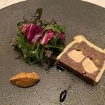 DINING 六区 - 兵庫県産鹿肉とフォアグラのパテ仕立て 唐辛子マスタード