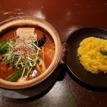 タイガーカレー - プルプル牛筋カレー+裏虎スープ