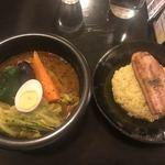 kanakoのスープカレー屋さん - 厚切りベーコン グリルonライス(1,067円)