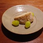 永山 - 海老芋鯛の酒蒸し ・お食事:いくらご飯、留椀、香の物 ・水菓子:和三盆と黄粉のプリン