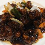 中華料理 華景園 - 黒酢酢豚