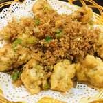中華料理 華景園 - 揚げカキの黒コショウかけ