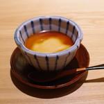 永山 - 水菓子:和三盆と黄粉のプリン