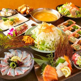 国内産の新鮮な鶏や海鮮などを使った創意工夫料理が目白押し!