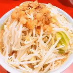 ラーメンきずな - ラーメン860円・麺1/3、ヤサイマシ