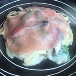 りんご庵 - 料理写真:生ハムとほうれん草のクリームパスタ