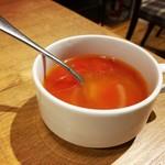 いしがまやハンバーグ - スペシャルセットのスープ