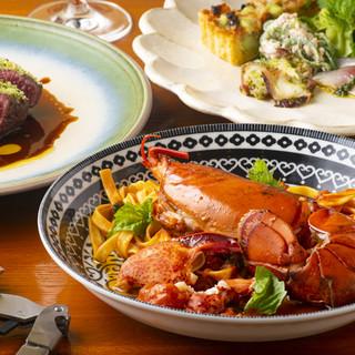 和食器と箸でも楽しめる本格イタリアン。