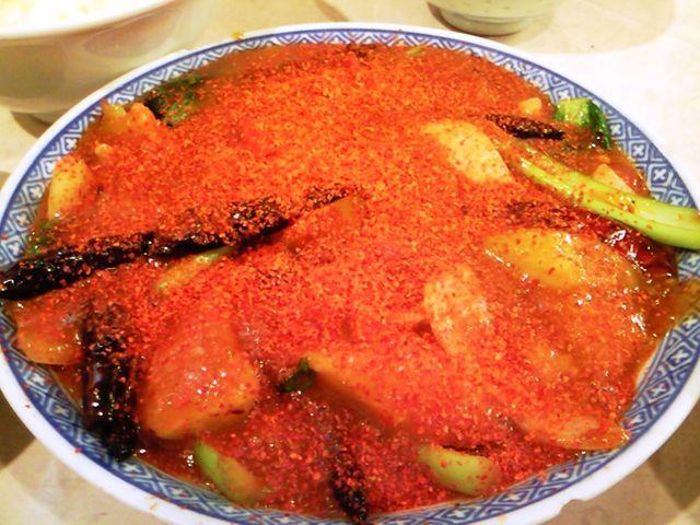 福龍園 - 茄子と豚肉のラージャン煮込み 超激
