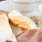 加菜 - Aモーニングトースト1枚セット550円+スープ300円