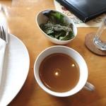 アッチューガ - スープとサラダ