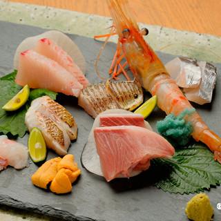 店長自ら目利きした魚料理