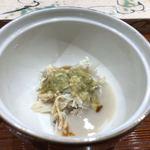 鮨旬美西川 - 蟹身と蟹味噌、海老芋のすりながし