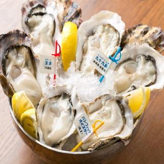 【全国各地から産地直送】新鮮な牡蠣や魚介が当店の自慢!